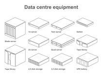Dane centre wyposażenie Fotografia Stock