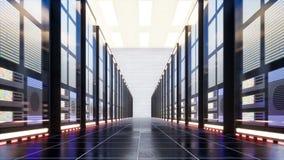 Dane centrum z serwerami w wielkim pokoju zbiory