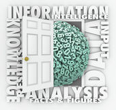 Dane Ewidencyjnego odratowania badanie Liczy postacie Drzwiowe royalty ilustracja