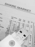 dane finansowe Zdjęcia Stock