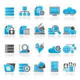 Dane i analityka ikony ilustracji