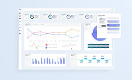 Dane Infographic zastosowanie UI UX Nowożytny inteligentny infographic diagrama wektoru interfejs obraz stock