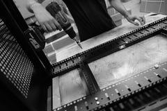 Dane komunikacj gabinetowa produkcja wśród zakładu wytwórczego Obrazy Royalty Free