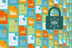 Dane komunikacja z ochrony pojęciem i nauka Obrazy Stock