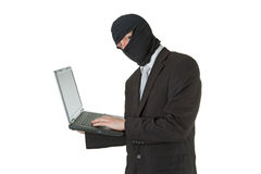 dane laptopu mężczyzna target1376_0_ Obrazy Royalty Free