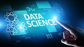 Dane nauka i głęboki uczenie Sztuczna inteligencja, analiza Internetowy i nowożytny technologii pojęcie obrazy royalty free
