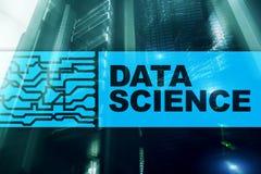 Dane nauki Sztucznej inteligencji poj?cie Futurystyczny superkomputeru t?o ilustracja wektor
