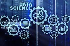 Dane nauki Sztucznej inteligencji poj?cie Futurystyczny superkomputeru t?o royalty ilustracja