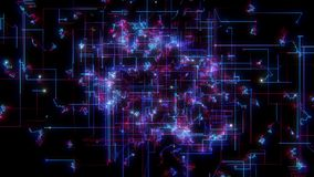 Dane obwodu siatki technologii ruchu animaci graficzny abstrakcjonistyczny tło ilustracji