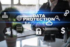 Dane ochrona, Cyber ochrona, ewidencyjny bezpieczeństwo i utajnianie, internet technologia i biznesu pojęcie obrazy stock
