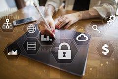 Dane ochrona, Cyber ochrona, ewidencyjny bezpieczeństwo i utajnianie, Obrazy Stock
