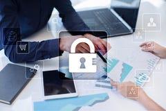 Dane ochrona, Cyber ochrona, ewidencyjny bezpieczeństwo i utajnianie, Zdjęcie Stock