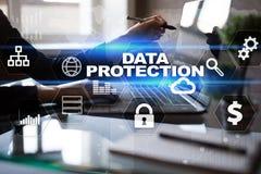 Dane ochrona, Cyber ochrona, ewidencyjny bezpieczeństwo i utajnianie, Obraz Stock