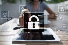 Dane ochrona, Cyber ochrona, ewidencyjny bezpieczeństwo i utajnianie, Zdjęcia Stock