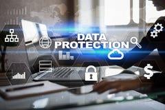 Dane ochrona, Cyber ochrona, ewidencyjny bezpieczeństwo Technologia biznesu pojęcie Obrazy Stock