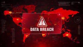 Dane pogwałcenia ostrzeżenia ostrzeżenia atak na Parawanowej Światowej mapie royalty ilustracja