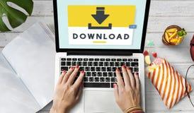 Dane Pomocniczego magazynu synchronizaci Cyfrowego serweru interneta pojęcie obrazy stock