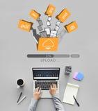 Dane Pomocniczych kartotek bazy danych magazynu Online pojęcie Obraz Stock