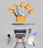 Dane Pomocniczych kartotek bazy danych magazynu Online pojęcie Zdjęcie Stock