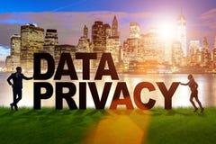Dane prywatności pojęcie w nowożytnym ja technologia Obraz Royalty Free