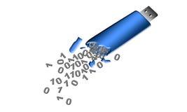 Dane Przepuszczają od łamanej USB błysku przejażdżki ilustracji
