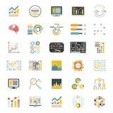 Dane - przetwarzać pojemność na Białe ikony Ustawiającym tła Infographic Płaskiego projekta Apps szablonu Mobilnym wektorze Obraz Royalty Free