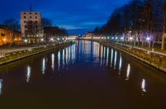Dane river in Klaipeda (Lithuania) Stock Images