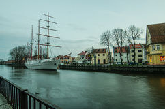 Dane river in Klaipeda (Lithuania) Royalty Free Stock Photography