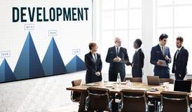 Dane rozwoju występu badania pojęcie zdjęcie royalty free