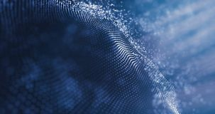 Dane technologii abstrakcjonistyczna futurystyczna ilustracja Niski poli- kształt z łączyć kropki na ciemnym tle ?wiadczenia 3 d ilustracja wektor