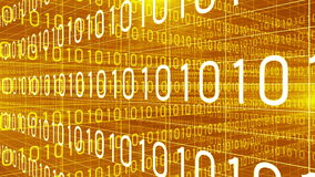 Dane technologii cyfrowej liczb trawersowania pomarańcze 4K ilustracja wektor