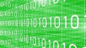 Dane technologii cyfrowej liczb trawersowania zieleń 4K ilustracji