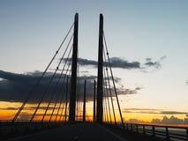 Danemark sweden oeresund bridge stock photo