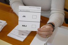 DANES CASTING VOTES Stock Images