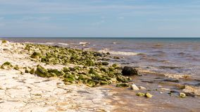 Danes Dyke, East Riding of Yorkshire, UK. North sea at Danes near Bridlington, East Riding of Yorkshire, UK stock photos