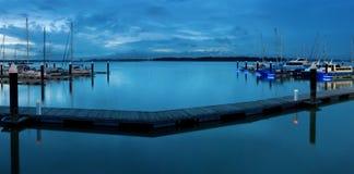 Danga海湾端口,柔佛,马来西亚 免版税库存照片