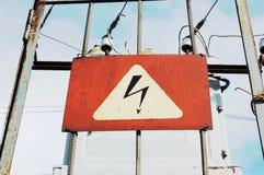 Danger électrique Photo libre de droits