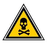 Danger. Triangular signal indicating danger of death Stock Image