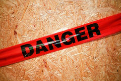 Danger. Warning around construction site Royalty Free Stock Photography