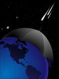 Danger 2012. The abstract image of protection of planet the Earth from threat from space Stock Image