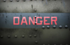 Danger. Warning signals will require attention to high risk Stock Photography