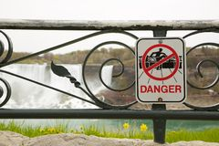 Danger !. A Danger Sign in the Niagara Falls Area stock image