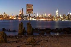 Danger 3 de l'eau de New York Image stock