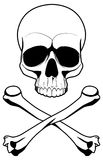 Danger. Skull and bones Simbol danger Royalty Free Illustration