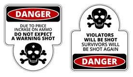 Danger illustration stock