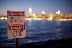Danger 6 de l'eau de New York Image libre de droits