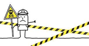 Danger. Vector hand-drawn characters line Royalty Free Stock Photo