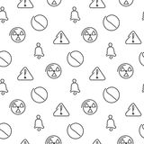 Danger and alarm seamless pattern Stock Image