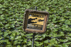 Danger Alligator sign Stock Photo