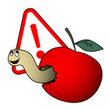 Danger apple Royalty Free Stock Photo